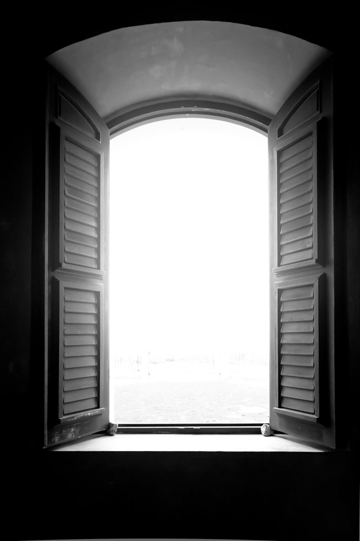 Window Looking to the Cliffs - Inside the Lighthouse