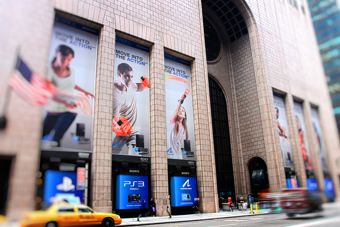 Sony Madison Ave - Playstation Move Banners